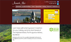Aonach Mor at The Highland Club, Loch Ness, Fort Augustus Abbey