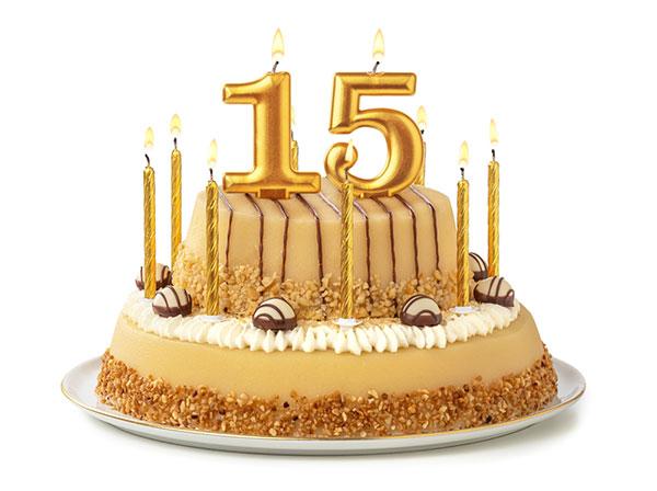 Birthday cake - 15 years